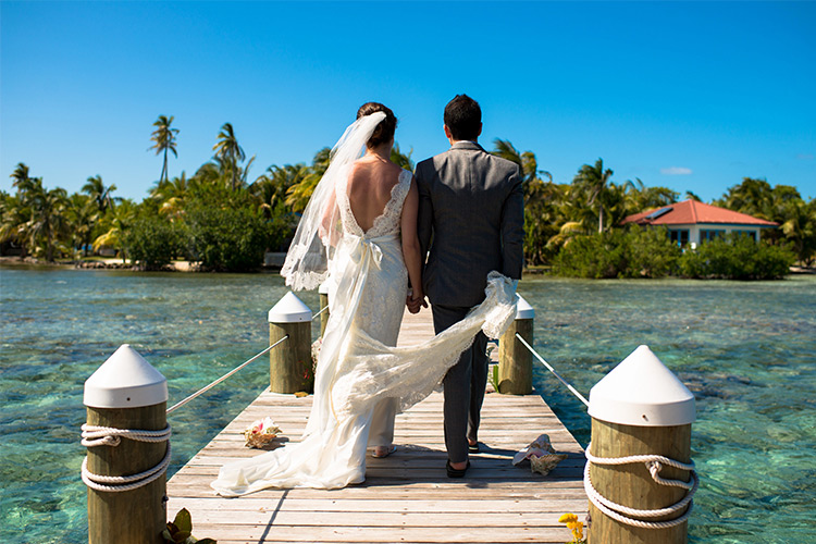 Destination Wedding Hatchet Caye